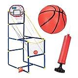 Relaxdays Arcade Basketball im Set, Basketballkorb fürs Zimmer mit 2 Bällen, Spaß für Kinder; HxBxT: 148 x 45 x 88 cm