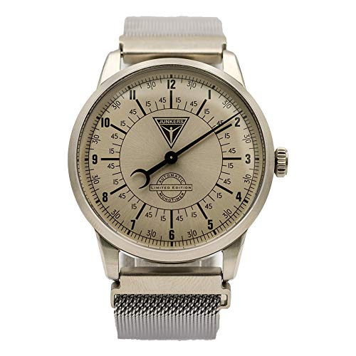 Junkers Automatik Monotimer Herren Flieger Uhr Limited Edition Milanaise Armband 6362-1 Made in Germany