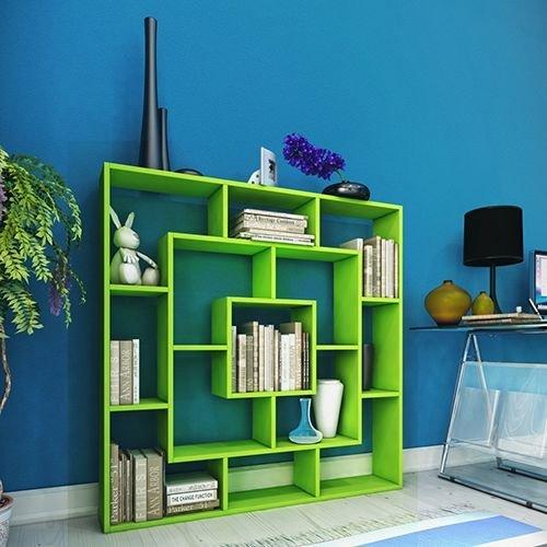 Frame libreria verde scaffale per libri scaffale per for Libri in offerta