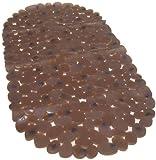 Wanneneinlage Wannenmatte Badewannenmatte Kiesel Kieselsteine Stone braun Sicherheitsmatte Anti rutsch Badewanneneinlage