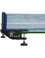 Relaxdays Filet de tennis de table professionnel métal H x l: 19,2 x 23,5 cm filet de ping-pong pour loisirs sport extérieur ou intérieur, noir