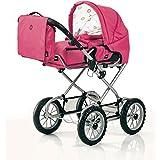 Brio 24891392 BRIO Puppenwagen Premium Combi, fuchsia (incl. Tasche) Role Play-Doll Prams