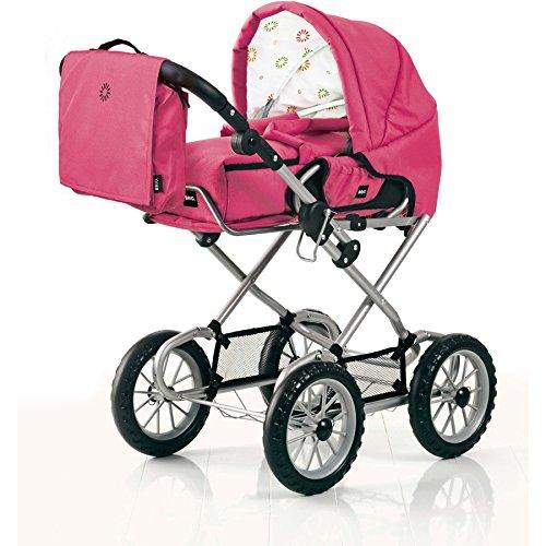 Preisvergleich Produktbild Brio 24891392 BRIO Puppenwagen Premium Combi, fuchsia (incl. Tasche) Role Play-Doll Prams