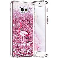 Robinsoni Funda Compatible con Samsung Galaxy J5 Prime Funda Flexible Samsung Galaxy On5 2016 Caso Silicona TPU Caja Brillo Liquida Bling Cubierta 3D Liquid Flowing Funda Espejo Funda Flamingo # 1