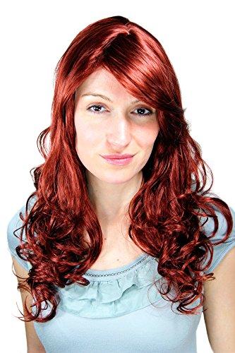 Perücke, Wig, rot, Scheitel, lockig 9319-35 ca. 60 cm
