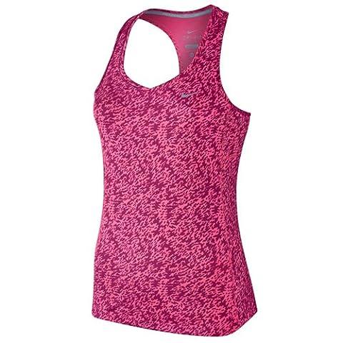 NIKE Débardeur Miler Pronto M Rose - Hyper Pink/Reflective