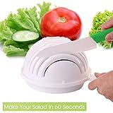 60s Salad Cutter Bowl, Broloyalty 3 en 1 Multifunctional Fruit Chopper, Spinner et filtre-Faites votre salade délicieuse, saine et fraîche en 60 secondes