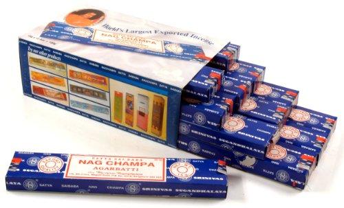 Räucherstäbchen Nag Champa SAI BABA SATYA Großpack 12*15 g / Indische Räucherstäbchen