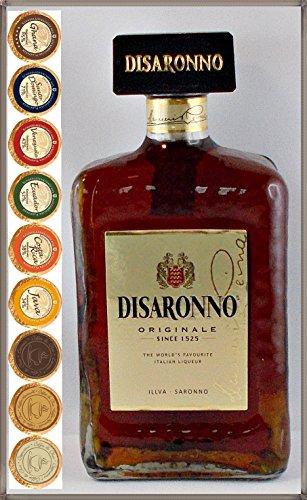 Amaretto Disaronno Originale Mandellikör mit 9 DreiMeister Edel Schokoladen in 9 Geschmacksvariationen, kostenloser Versand