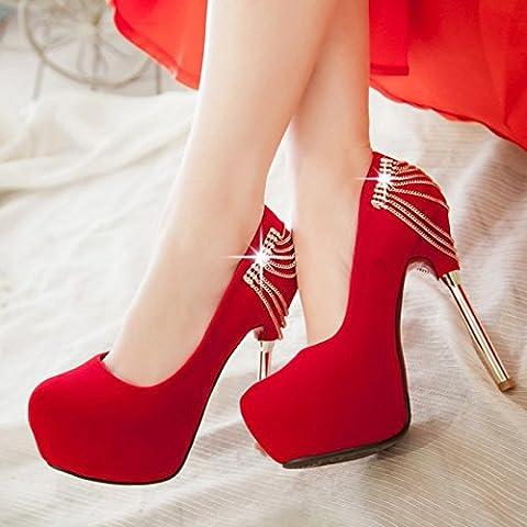 San 2016 nueva alta rojo con fino con los zapatos de la uni¨®n zapatos de boda de diamante de novia zapatos atractivos del alto Hentian , red ,
