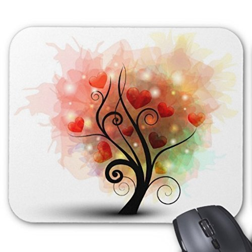 CottonHouse Heart Tree Design Computer Gaming Mousepad