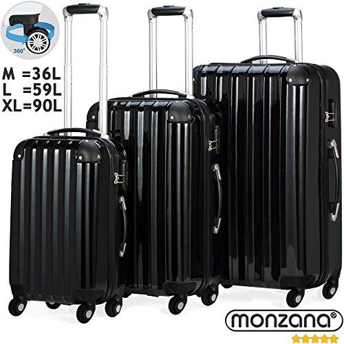 Monzana Set Maletas Maletas Rígidas Ruedas ABS Robusto