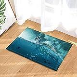 Sea Bad Teppiche von gohebe Schildkröte und Fische im Ozean wilden Wellen rutschfeste Fußmatte Boden Eingänge Innen vorne Fußmatte Kinder Badematte 39,9x 59,9cm Badezimmer Zubehör