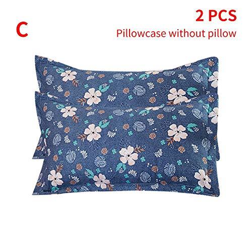 Blaue Blumen-bett-ensemble (Yestter Bedsure Baumwolle Bettwäsche 1.52m Rot, Lila, Blau Bettbezüge Mit 3-Teilig Super Weiche Atmungsaktive Baumwollbettwäsche)