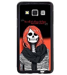 PRINTVISA Girl Skull Case Cover for Samsung Galaxy Core i8262::Samsung Galaxy Core i8260