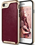 Caseology [Envoy Series iPhone 8 / iPhone 7 Case - [Premium Leather] - Leather Cherry Oak