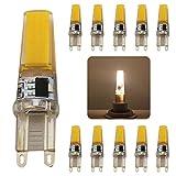 LED Leuchtmittel G9,5W LED COB SMD, Warmweiß 2700–3200K, 220V, Leuchtmittel LED, 300LM, Hochleistungs-Leuchtmittel Energiesparlampe entspricht der Halogenlampe 50W, 10Stück