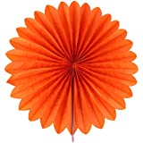 Generic Paper Home Decor Fan Hollow Out Flower Orange For Party Birthday Shower Festival Wedding