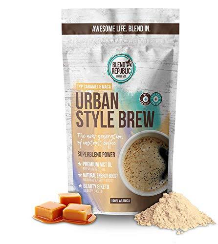 Urban Style Brew (Caramel) - Instant Kaffee Arabica mit ⍟ MCT-Öl, Collagen & Inulin - Kollagen Drink - Bulletproof - KetoUp - Keto-Kaffee