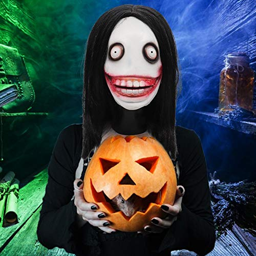 Máscara de Halloween Wendaby Látex Scary Payaso Máscara Joker Máscara Espeluznante Miedo de Halloween Cosplay Máscara para Adultos Decoración de la fiesta Props