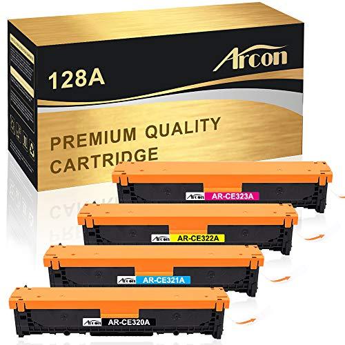 Arcon 4-Pack Remanufactured Druckerpatrone für HP 128A CE320A CE321A CE322A CE323A für HP Color Laserjet Pro CP1525 CP1525N CP1525NW;HP Laserjet Pro CM1415 CM1415FN CM1415FNW MFP Tonerkartusche -