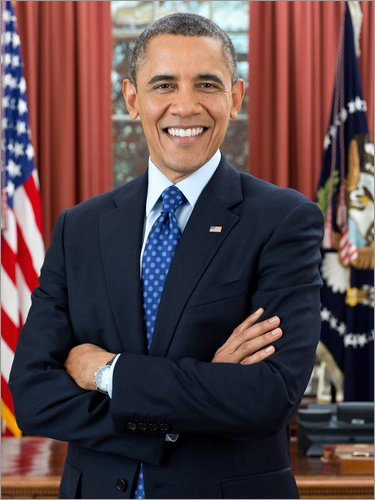 Acrylglasbild 60 x 80 cm: Präsident Barack Obama im Porträt von Everett Collection - Wandbild, Acryl Glasbild, Druck auf Acryl Glas Bild (Obama-glas Barack)