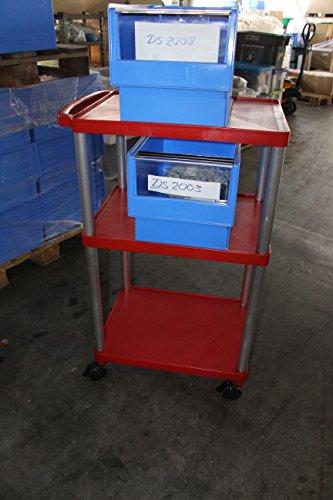 Transportwagen – Werkstattwagen – Rollwagen – bis 250 kg belastbar !! Version in Farbe Rot und Flach – Tief – Tief - 3