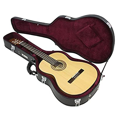 Attitude hard shell wooden soft lined guitar case