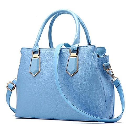 Borse a Mano Per Donna Messenger Bag Borsa A Tracolla Vino Rosso Azzurro