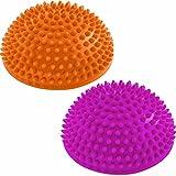 #DoYourFitness 2er-Set Balance-Kugel »Igel« zur Steigerung der Balance/Koordination. Ideal für Balance-Training 320g zirka 8cm hoch und 16cm Durchmesser in Magenta/orange