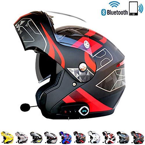 Casco De Motocicleta Modular Auricular Bluetooth Integrado