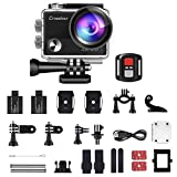 Crosstour Upgraded 4K 20MP Action Camera WiFi Sports For Vlog Waterproof Underwater Camcorder with Remote Control