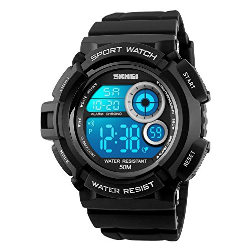 TONSHEN Uomo Donna Orologi da Polso LED Digitale Elettronico 50M Impermeabile l'Outdoor...