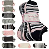 10 er Pack Damen Sneaker Socken'Daily' Gr. 36-41, Füßlinge mit einem Farb-Mix...