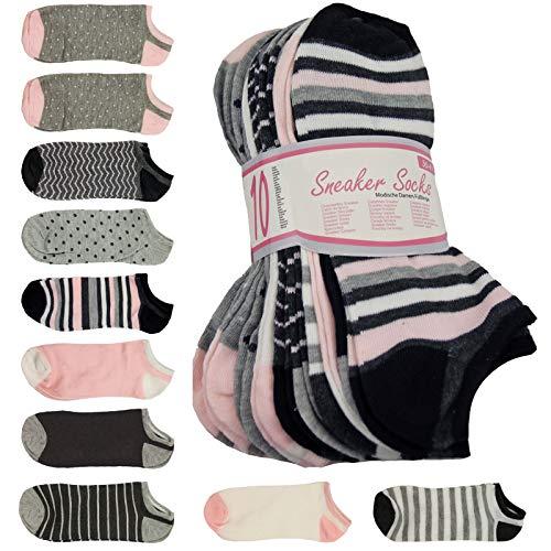 10 er Pack Damen Sneaker Socken