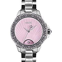 MEDOTA Gratia Women's Studded Automatic Water Resistant Analog Quartz Watch - Purple