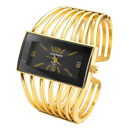 JS Direct jwb0027–Armbanduhr für Damen, Armband aus Edelstahl, Farbe Schwarz