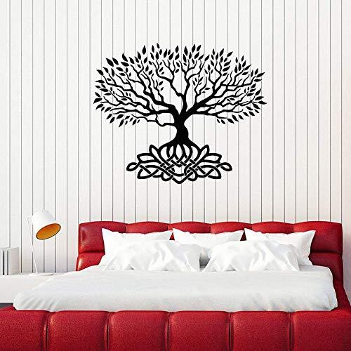 Geiqianjiumai Celtic Knot Dekoration lässt Schlafzimmer Art-Deco-Aufkleber Wandhauptdekoration Schlafzimmerdekoration Zuhause schwarz 69x57cm