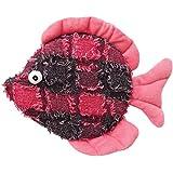 scoochie Pet Products Donna Diskus Fisch Plüsch-Hundespielzeug, 26,7cm