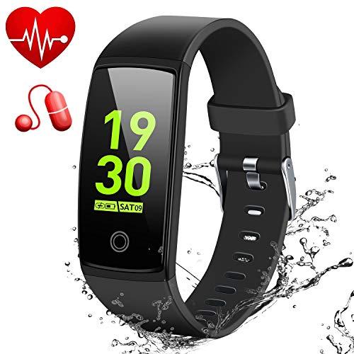 MSDJK Fitness Armband mit Pulsmesser Blutdruckmessgerät,0.96