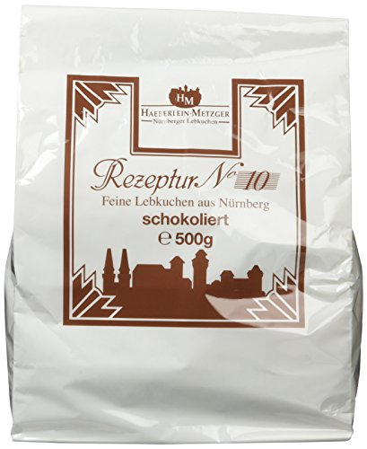 Haeberlein Metzger Feine Oblatenlebkuchen Zartbitter, 4er Pack (4 x 500 g)