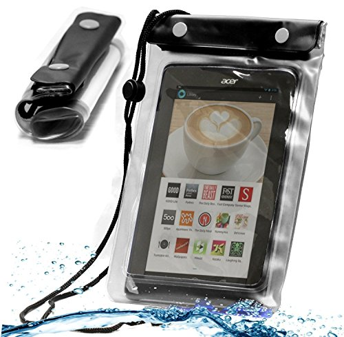 Navitech schwarzes Wasserfestes Case, Wasserfestes Cover für 10 Zoll Tablets Inklusive das LG G Pad 10.1
