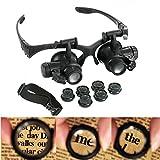 Brand New 10/15/20/25x LED lente d ingrandimento Eye gioielliere orologio riparazione kit