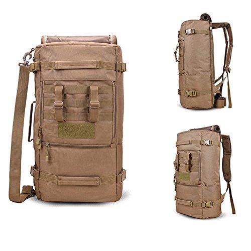 yinggg Leinwand Rucksack Herren Casual Daypacks Travel Tasche für Wandern/Camping/Outdoor Braun