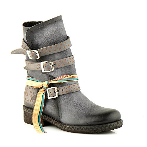 Felmini - Scarpe Donna - Innamorarsi com Beta A234 - Stivali Alti Cowboy & Biker - Pelle Genuina - Multicolore Multicolore