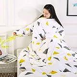 Blankets Multifunktion Faule Quilt Mit Ärmeldecken Herbst Winter Gewaschenes Warmes Bett Sofa150 * 200Cm / 59 * 78.7Inch,F