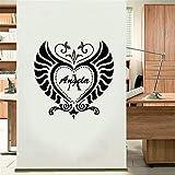 Wandtattoo Schlafzimmer Wandaufkleber Schlafzimmer Vom Flügel-Muster definierte Namens-Engel, grüne Aufkleber des Kinderzimme