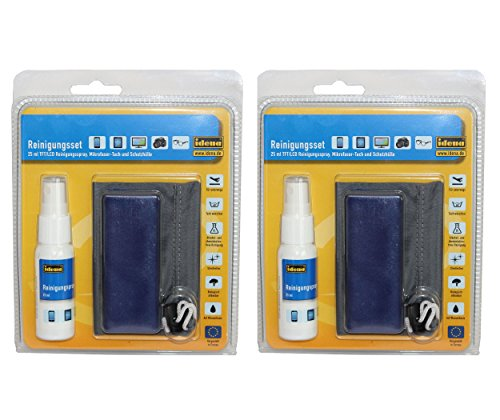 idena-10100537-reinigungsset-4-teilig-2-sprays-und-2-mirkofasertucher-inklusive-aufbewahrungsbeutel