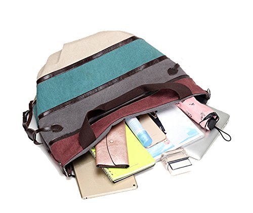 a145e11c5b6d2 ... DNFC Damen Handtasche Canvas Schultertasche Groß Henkeltasche Damen  Shopper Tasche Schöne Vintage Umhängetasche Tote Beuteltasche für ...