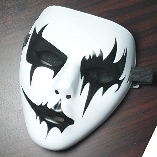 liMian Street Dance V Engel Ghost Dance - Handbemalten weißen Terror von Frauen und Männern drücken eingerichteten Halloween Masken, das Neue ist die Schwester von drop-3